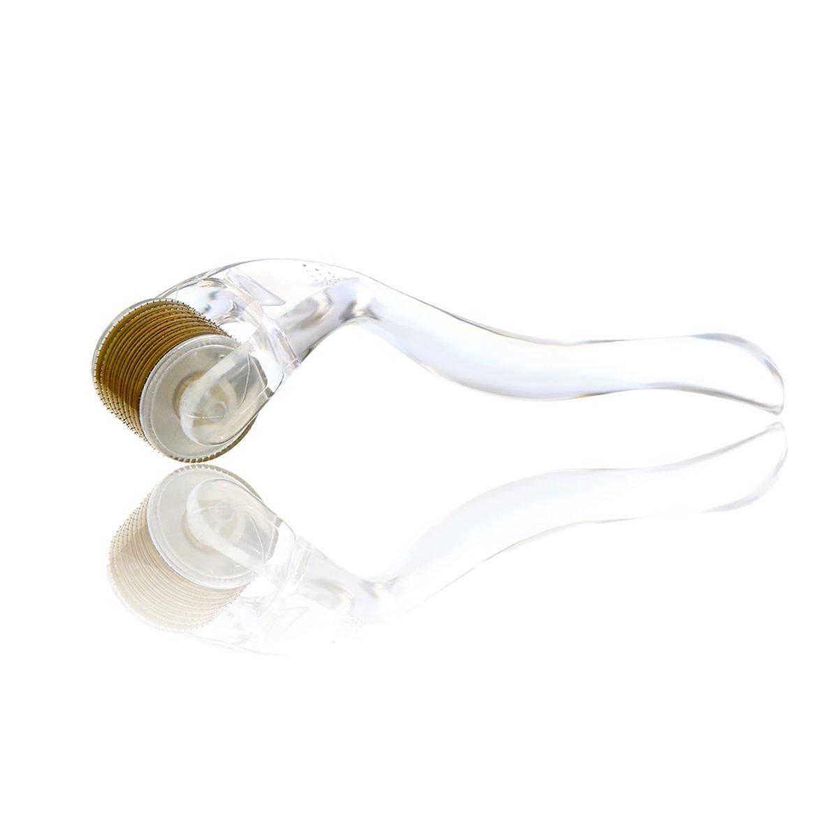 Derma - Kit de rodillo para cara y cuerpo, 0,25 mm, grado profesional, 540 de titanio, micro agujas, herramienta para terapia de inducción de colágeno, ...
