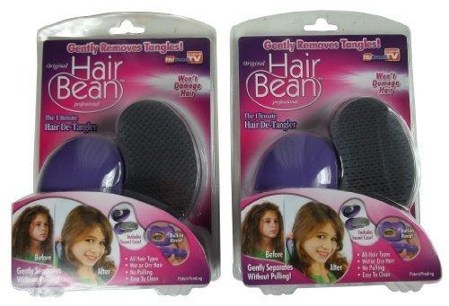 2 New in the Box As Seen on Tv Original Hair Bean Professional Brush Detangler