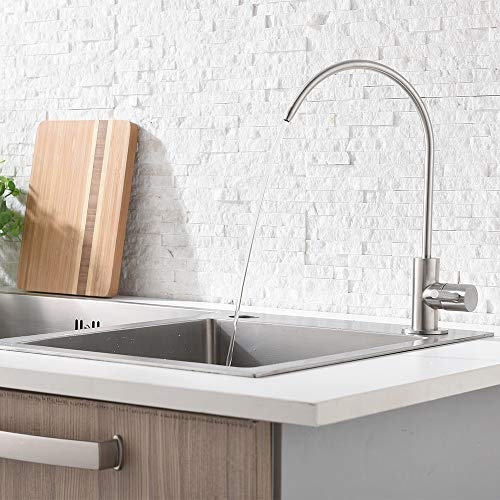 Ufaucet Modern Best Stainless Steel Brushed Nickel Kitchen Bar Sink Drinking Water Purifier Faucet, Commercial Water Filtration Faucet by Ufaucet (Image #2)