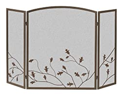Panacea Products 15914 3-Panel Oak Leaf Fireplace Screen from Panacea Products