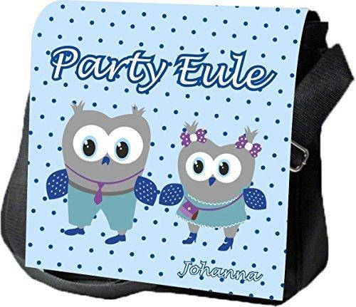 Schultertasche Umhängetasche Handtasche personalisiertes Geschenk Eulen Party Ausgehtasche Partytasche