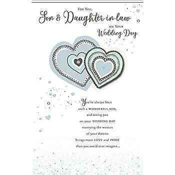 Hallmark 25460762 MediumLove and Congratulations Son and Daughter in Law Wedding Card