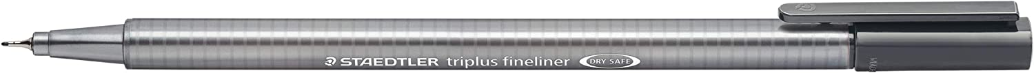 Staedtler Triplus Fineliner 334-8 Tips - Grey (Pack of 10)