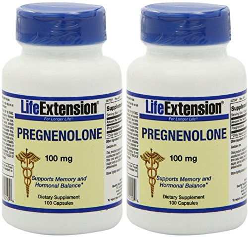 Life Extension prégnénolone 100 mg, 100-Capsule (2 pack)