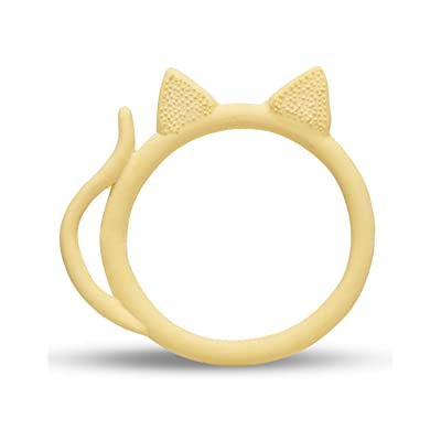 Infant Developmental Toys - Teething Ring BPA Free - Teether Toy Natural Rubber - Newborn & Premature Babies - Coco The Cat - Sensory Toys - Handmade in Spain - Family-Owned Company Founded in 1952. : Baby