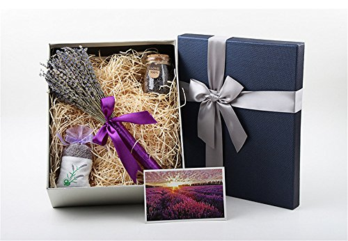 Hadi Natural Dried Premium Lavender + Wishing Bottle + Fragrant Lavender Sachet For Thanksgiving Gift For Wedding For Valentine Day by Hadi