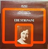 EBE STIGNANI FRANCO SOPRANO vinyl record