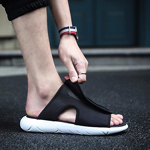 Sandalen Sommer Atmungsaktiv Männer Sandalen Flip Flops Rutschfest Strand Schuh Trend Sandalen ,schwarz and Weiß,US=7,UK=6.5,EU=40,CN=40