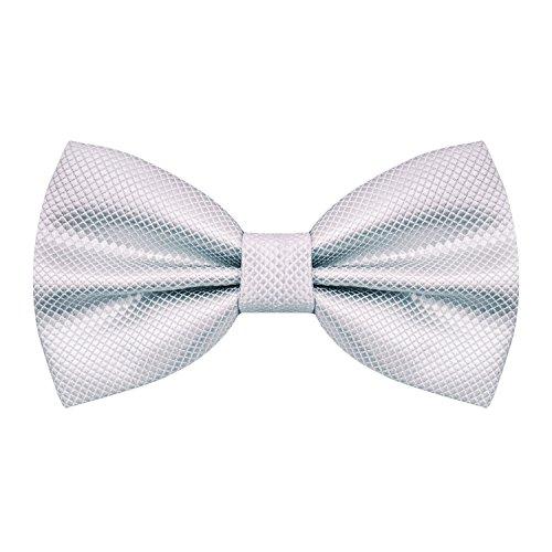 nozze per annodata Cravatta Già Alizeal a di Silver farfalla Man festa la Fww7zXqR