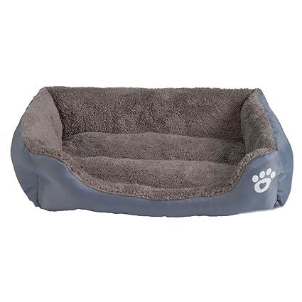 elvnx Pet Sofá Cama para Perro Impermeable Parte Inferior Suave cálido Gato Cama casa, Gris