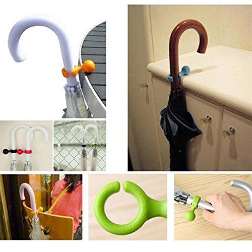 [Free Shipping] Plastic Handy Mini Umbrella Hanger Holder Stand Support Rack Mount Color Random // Plástico práctico mini paraguas suspensión soporte soporte soporte rack montaje color al azar