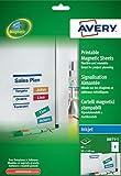 Avery - 40 Etiquettes Magnétiques Imprimables Format 50 x 140mm