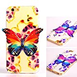 iphone 6 Case,Apple iPhone 6 4.7 inch TPU Case,Robot Minions Tribe [Wonderland] 3D Stereo Light Discolor Butterfly Design Flexible Soft TPU Material Cover Case For Apple iPhone 6 4.7 inch