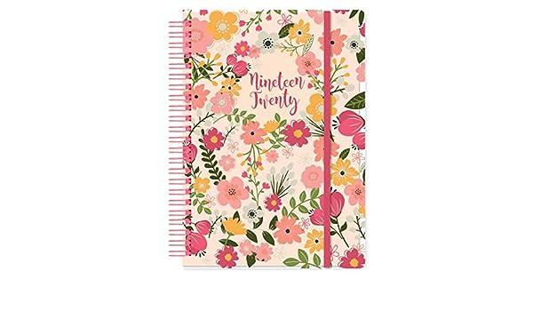 Flower Academic 2019-2020 - Agenda (tamaño A5), diseño de ...