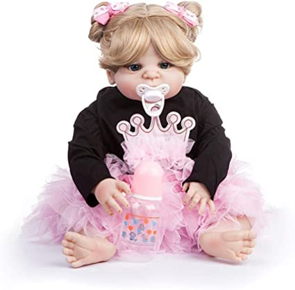 LIULAOHAN Simulacion Baby Doll, Muñeca de Silicona Blanda ...