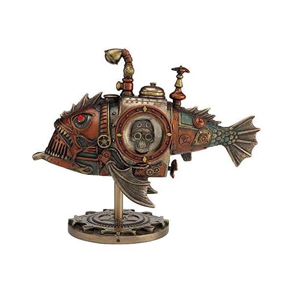 Nemesis Now Sub Piranha Figurine 22.5cm Orange, Resin, One Size