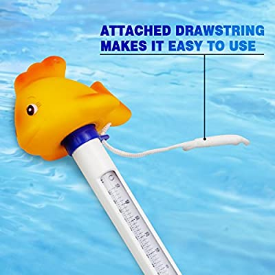 Bath Water Floating Thermometer for Swimming Pool Gold Fish Swimming Pool Thermometer with String Spas,Hot Tubs Aquariums and Fish Ponds Homga Floating Pool Thermometer