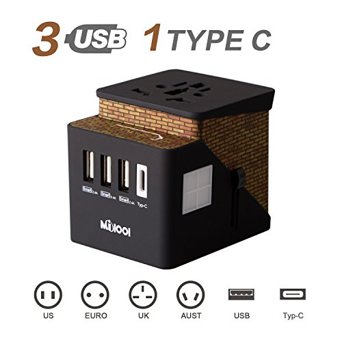 Milool International Travel Adapter Universal Power Adapter