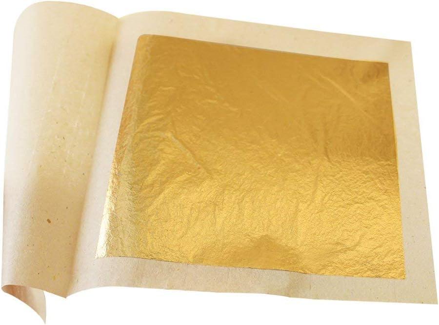 Edible Gold Leaf Sheets 30pc M-Size 24 Karat 1.2