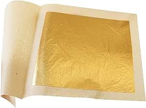 Edible Gold Leaf Sheets 30pc M-size 24 Karat 3cm X 3cm Genuine for Cooking, Cakes & Chocolates, Decoration, Health & Spa