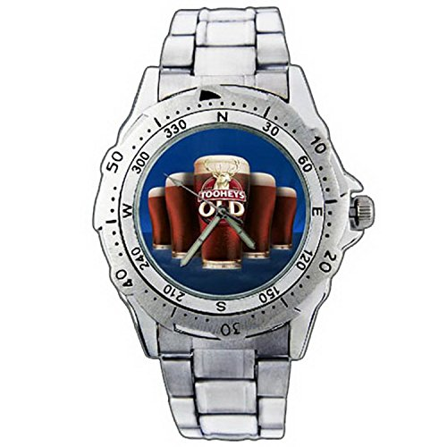 mens-wristwatches-pe01-1296-tooheys-old-black-ale-beer-glass-stainless-steel-wrist-watch