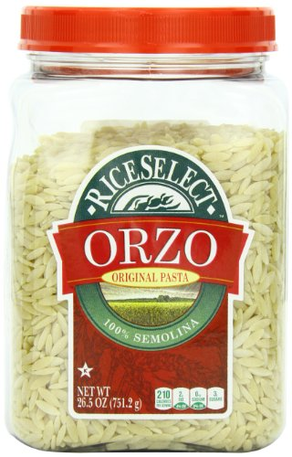 RiceSelect Traditional Orzo, 26.5-Ounce Jars (Pack of 4)