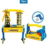 BFULL Kids Tool Set with Electronic Cordless Drill