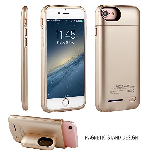 iPhone 6s 7 Battery Case , i.Valux Unique Designed Stand Shockproof Bumper iPhone 6s 7 Battery Case Backup 3000mAh External Power Bank Charger For iPhone 4.7