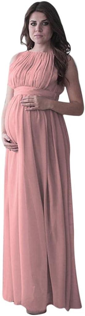 Schwangerschaftskleid /ärmellos Maternity Kleid Mutterschaft Fotografie Stillkleider Hochzeit Stillnachthemd Ballkleid Strandkleid Partykleider Damen LUCKDE Umstandskleid Maxikleid