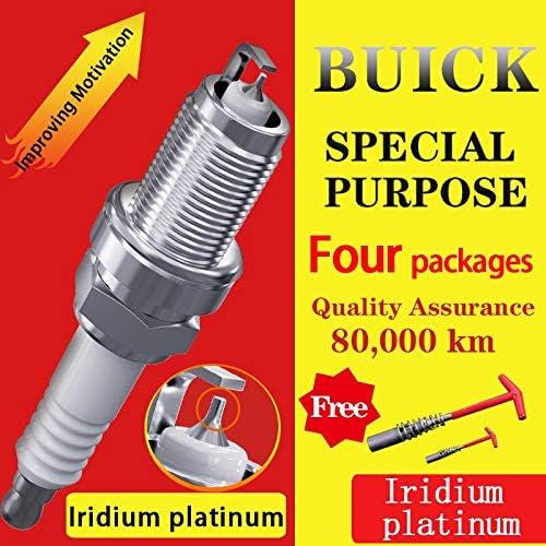 4Pcs/ Suitable For Buick Lacrosse Weilang Envision Encore Enclave Royaum Iridium Platinum Spark Plugs (Weilang) 512BBm5eRbtL