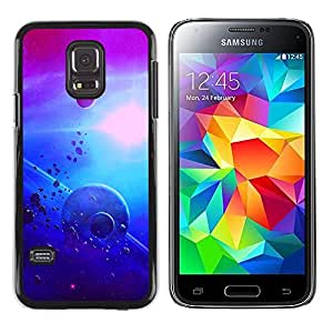 Shell-Star Arte & diseño plástico duro Fundas Cover Cubre Hard Case Cover para Samsung Galaxy S5 Mini / Galaxy S5 Mini Duos / SM-G800 !!!NOT S5 REGULAR! ( Planets In Space )