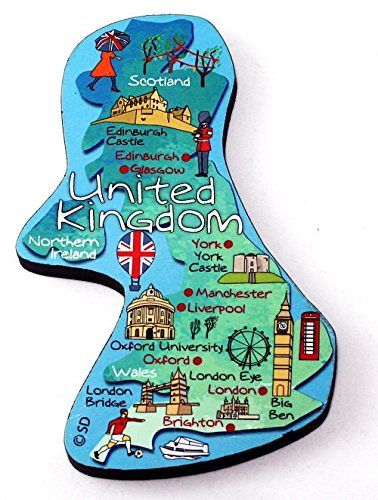 United Kingdom Decowood Jumbo Wood Fridge Magnet (Scotland Fridge Magnet)