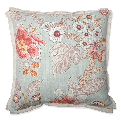 Pillow Perfect Room with A View Cerulean 16.5-Inch Throw Pil