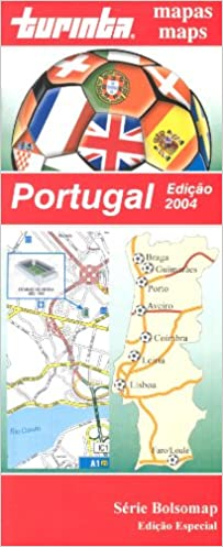Portugal Football Map English And Spanish Edition Turinta - Portugal map english