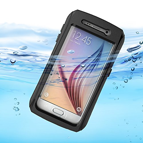 Galaxy S6 Case, Almatess Waterproof Galaxy S6 Ultra-rugged Hard Case High Quality PC and Silicone Material IPX68 Qualified Case Cover for Samsung Galaxy S6