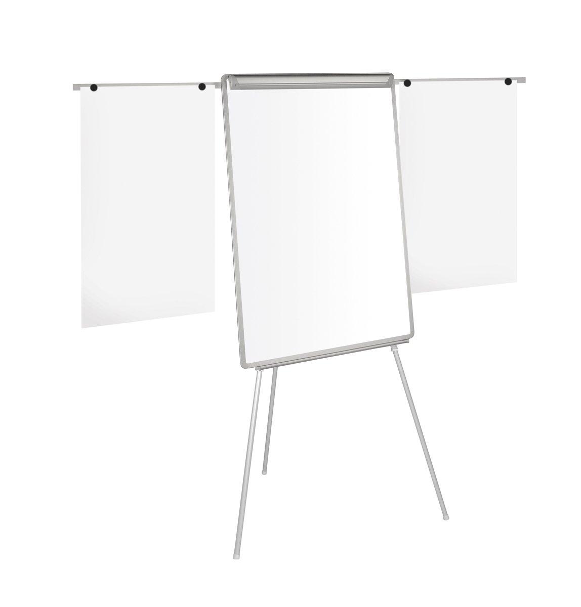 Bi-Office Lavagna Portablocco Magnetico Con Bracci Estensibili, Cavalletto Treppiedi Easy, Cornice in Grigio, Dimensioni Panello Euro - 700 x 1000 mm Bi-Silque EA2306046