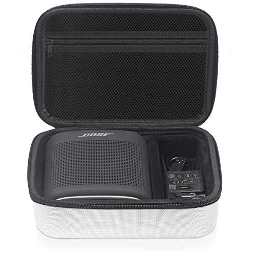 Geecow EVA Hard Case for Bose SoundLink Color Bluetooth Speaker II, Portable Shockproof Travel Storage Case Holder Fits USB Cable and Charger (White)