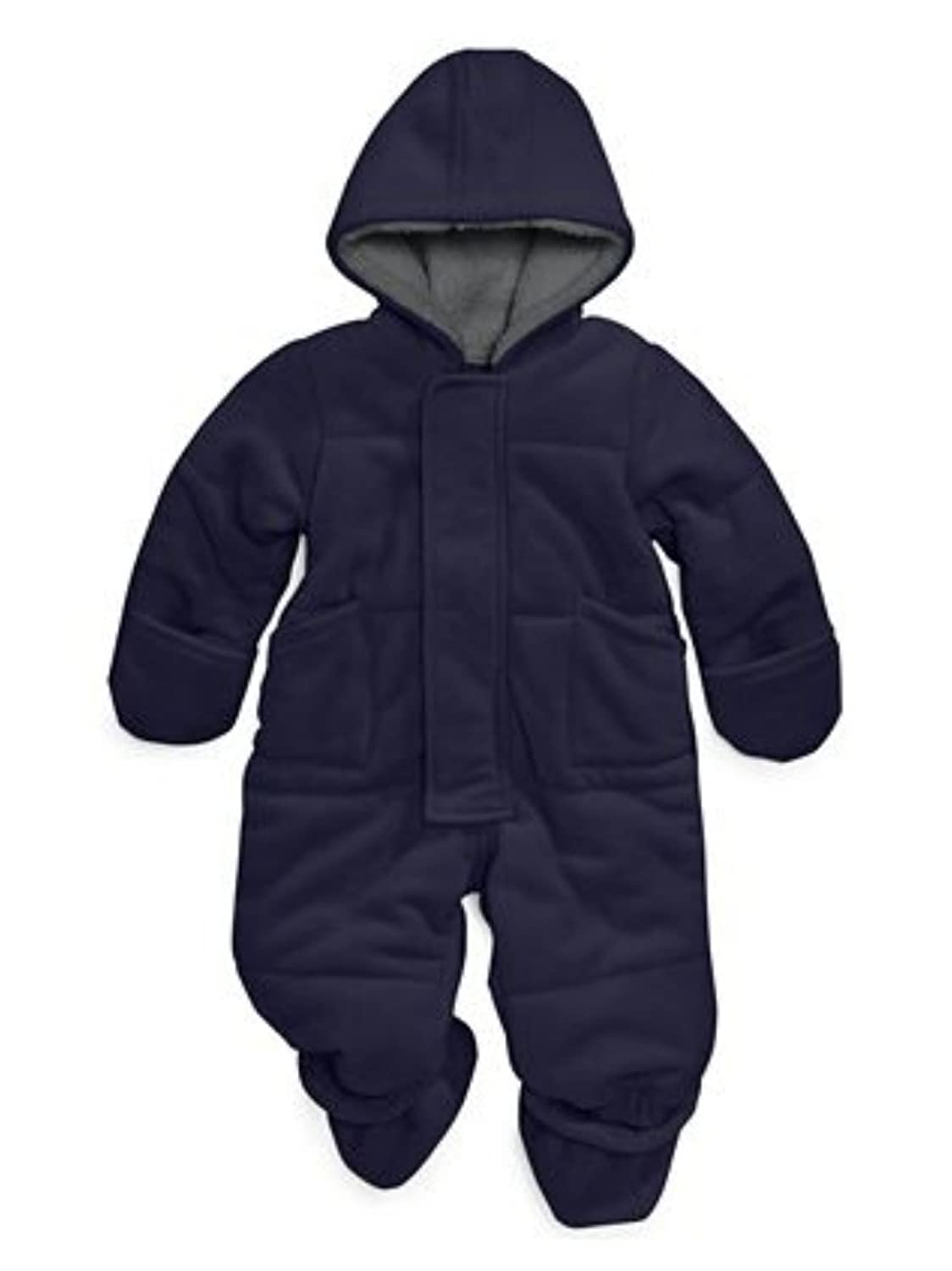 3b0215366 First Impressions Infant Boys Plush Navy Blue Snowsuit Baby Pram ...