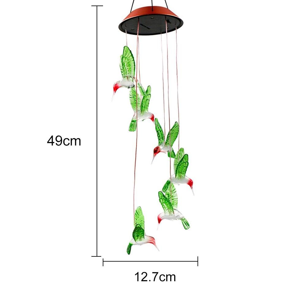 Waterproof Hanging Night Light Perfect For Home Party Night Garden Decoration Hjuns Color Changing Led Solar Wind Chime Light Home Décor Kolenik Home Décor Accents