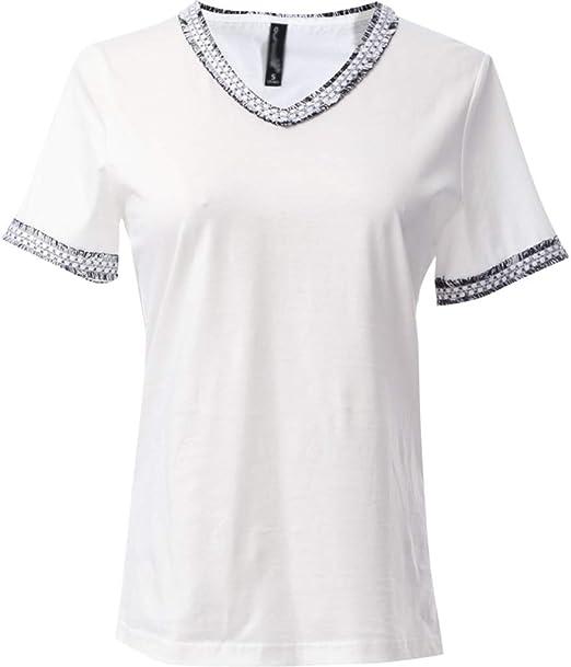 RHYFD Camisetas Mujer Camiseta Suelta de Manga Corta para Mujer ...