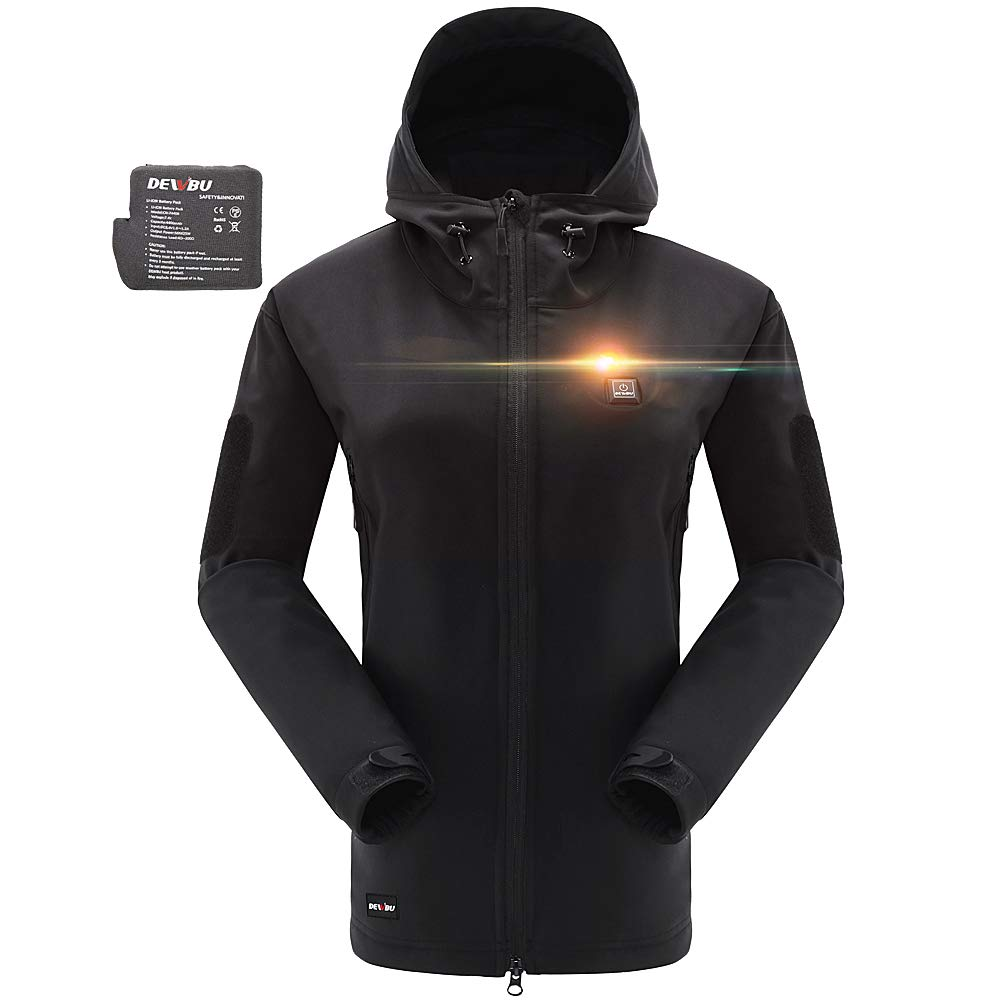 DEWBU Heated Jacket Outdoor Soft Shell Heating Clothing with 7.4V Battery Pack by DEWBU