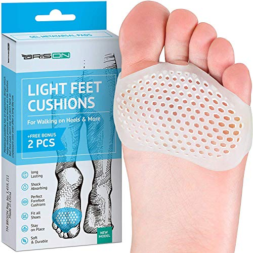 Metatarsal Pads Ball of Foot Cushions - Soft Gel Ball of Foot Pads - Mortons Neuroma Callus Metatarsal Foot Pain Relief Bunion Forefoot Cushioning Relief Women (Best Running Shoes With Forefoot Cushioning)