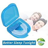 Anti Snoring Solutions Mouth Guards, Professional Dental Guards Snoring Mouth Solution AIDS Snore Reducing Sleep Aid Device Stop Snoring Teeth Grinding Night Guard Bruxism, Eliminates Teeth Clenching