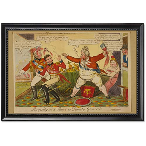 ClassicPix Framed Print 11x17: Royalty in A Rage Or Family Quarrels, 1820