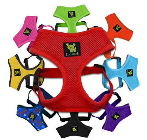 (Luxurious Comfort Dog Harness; 4-6 lbs Innovative No Pull & No Choke Design, Soft Double Padded Vest for Control, Eco-Friendly w/Quick Release, for Puppies and Dogs (Red, XS))