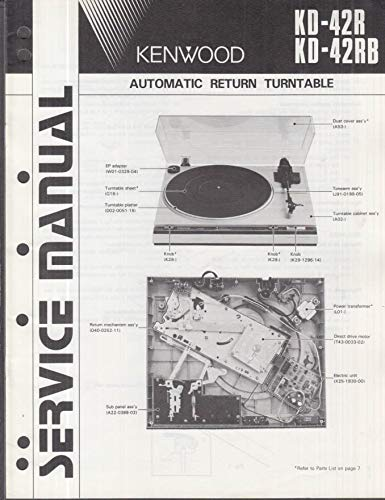 ORIGINAL Service Manual: Kenwood Model KD-42R KD-42RB Automatic Turntable ()