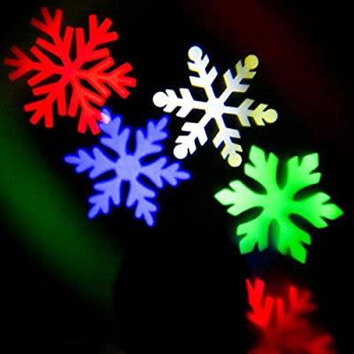 Little Hand LED Projector WeatherProof Magical Falling Snowflakes Christmas KTV Xmas Party Wedding Show Club Pub Disco DJ Home Light Projector