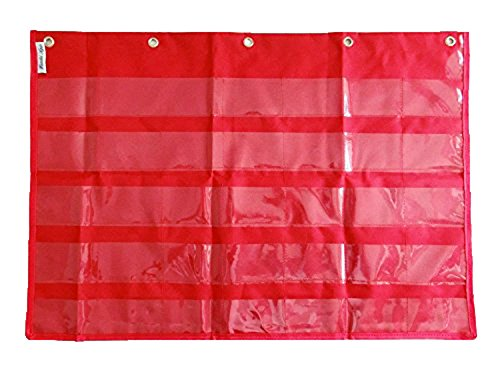 Wander Agio School Count Pocket Literacy Chart Card Deluxe Calendar Pocket Wall Hanging Chart Teaching Materials Red (Count Chart)