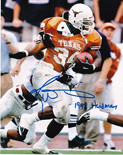 Ricky Williams Signed Photo - 1998 HEISMAN 8x10 - Autographed College Photos -