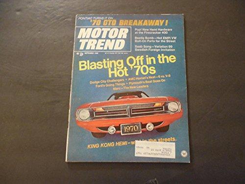 Motor Trend Sep 1969 GTO; Challenger; Hornet; Hemi; Plymouth; Beetle